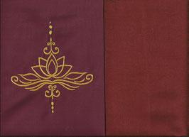 Lotusblüte Bordeaux + Rostrot