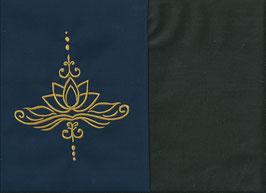 Lotusblüte Marine + Schokobraun