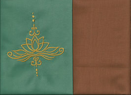 Lotusblüte Mintgrün + Hellrost