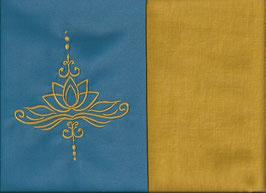Lotusblüte Blau + Ockergelb