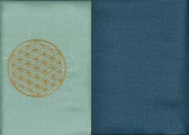 Blume des Lebens Hellmint+ Rauchblau
