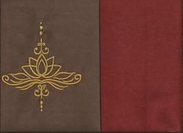 Lotusblüte Braun + Rostrot