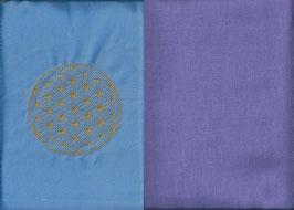 Blume des Lebens Hellblau+ Flieder