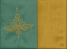 Lotusblüte Mintgrün + Ockergelb