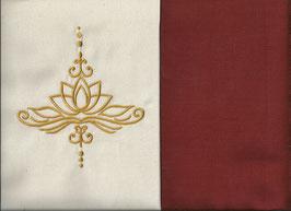 Lotusblüte Naturweiß + Rostrot