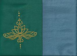Lotusblüte Grün + Schwedenblau