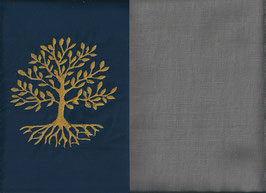 Lebensbaum Marine + Steingrau
