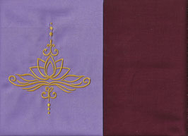 Lotusblüte Flieder + Bordeaux
