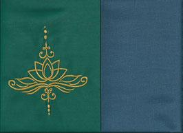 Lotusblüte Grün + Rauchblau