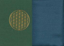 Blume des Lebens Grün + Rauchblau