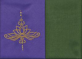 Lotusblüte Lila + Moosgrün