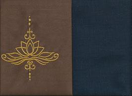 Lotusblüte Braun + Marine