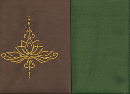 Lotusblüte Braun + Moosgrün