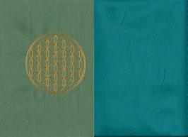 Blume des Lebens Mintgrün + Smaragt