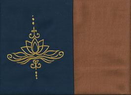Lotusblüte Marine + Hellrost