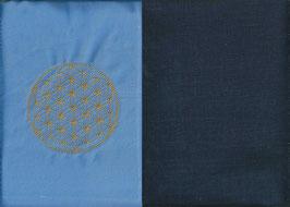 Blume des Lebens Hellblau+ Marine