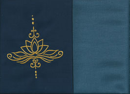 Lotusblüte Marine + Rauchblau