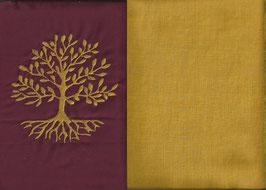 Lebensbaum Bordeaux + Ockergelb