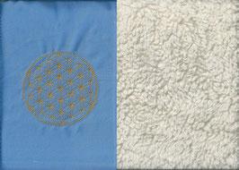 Blume des Lebens Hellblau+ Baumwollplüsch