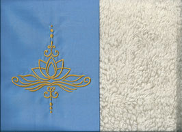 Lotusblüte Hellblau + Baumwollplüsch