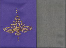 Lotusblüte Lila + Steingrau