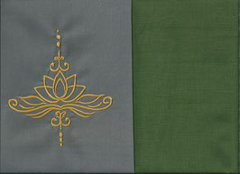 Lotusblüte Grau + Moosgrün