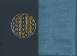 Blume des Lebens Marine + Schwedenblau