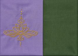 Lotusblüte Flieder + Moosgrün