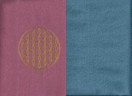 Blume des Lebens Altrosa + Schwedenblau