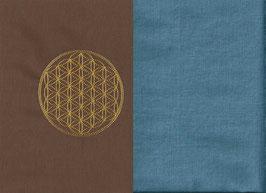 Blume des Lebens Braun + Schwedenblau