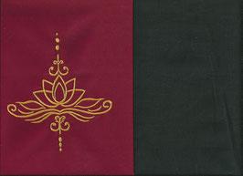 Lotusblüte Rot + Schokobraun
