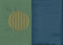 Blume des Lebens Mintgrün + Rauchblau