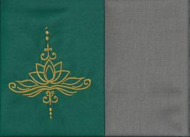 Lotusblüte Grün + Steingrau