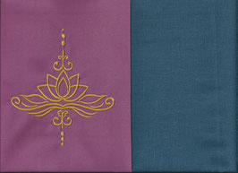 Lotusblüte Altrosa + Rauchblau