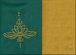 Lotusblüte Grün + Ockergelb