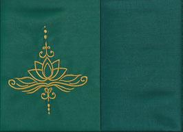 Lotusblüte Grün + Petrol