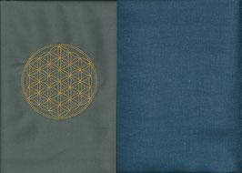 Blume des Lebens Grau + Rauchblau
