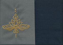 Lotusblüte Grau + Marine