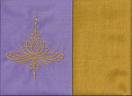 Lotusblüte Flieder + Ockergelb