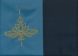 Lotusblüte Blau + Marine