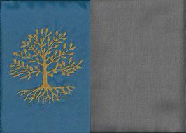 Lebensbaum Blau + Steingrau