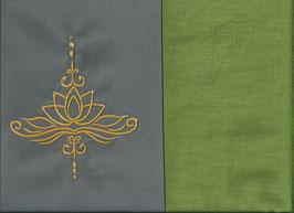 Lotusblüte Grau + Pistazie