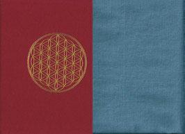 Blume des Lebens Rot + Schwedenblau