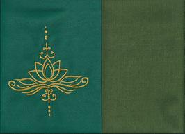 Lotusblüte Grün + Moosgrün