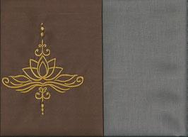 Lotusblüte Braun + Steingrau