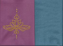 Lotusblüte Altrosa + Schwedenblau