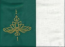 Lotusblüte Grün + Creme