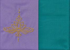 Lotusblüte Flieder + Smaragt