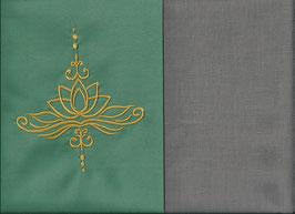Lotusblüte Mintgrün + Steingrau