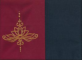 Lotusblüte Rot + Marine